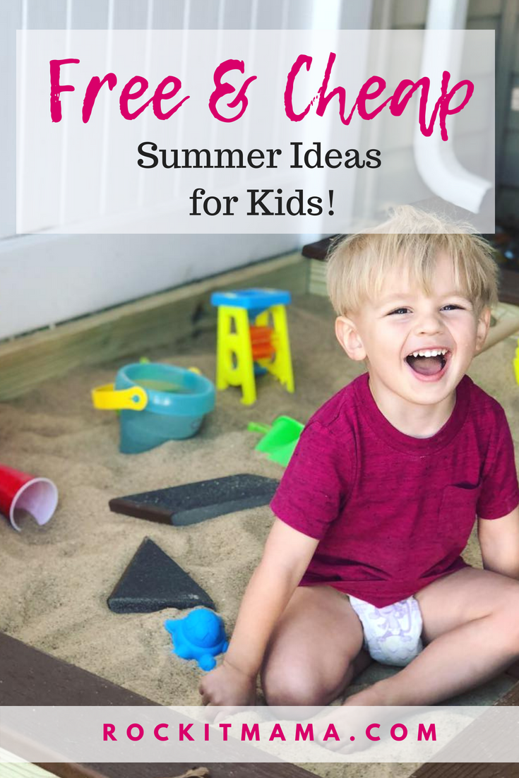 Free and Cheap Summer Ideas for Kids | Rock It Mama | Wondering what activities you can do with your kids this summer that don't cost a thing? Here are some ideas for your kids to enjoy.