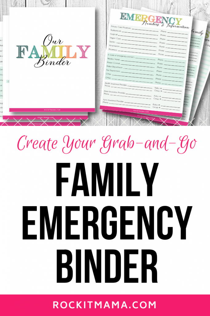 photo relating to Free Binder Printables identified as Relatives Unexpected emergency Binder - Free of charge Printables toward Crank out Your Private