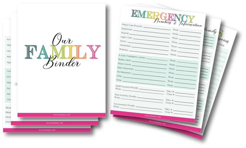 photo relating to Free Binder Printables named Family members Unexpected emergency Binder - Absolutely free Printables toward Establish Your Personalized