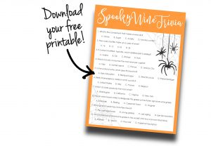 Image of spooky wine trivia game free printable