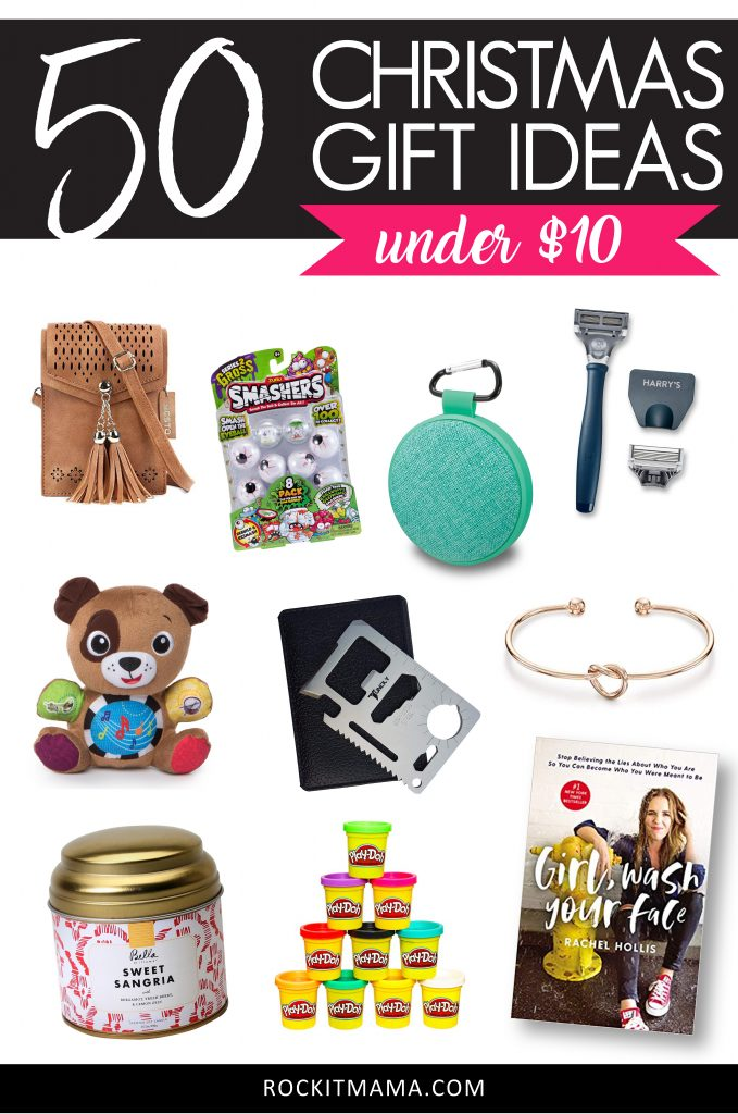 50 Christmas Gifts Under $10 (and 75+ Stocking Stuffer Ideas) | Rock It Mama