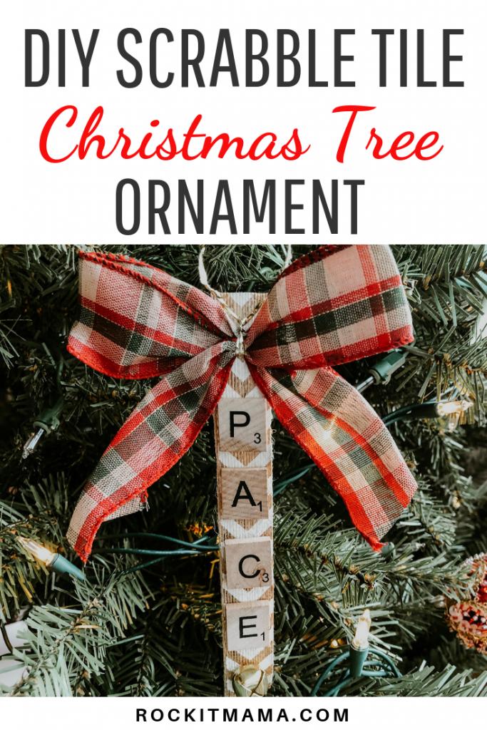 Diy Scrabble Tile Christmas Tree Ornament Rock It Mama