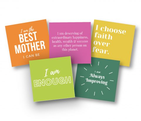 image of daily affirmation cards