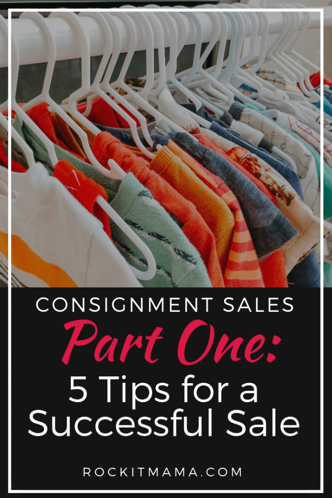 Blog Image of clothing saying Consignment Sales 5 Tips for a First-Timer