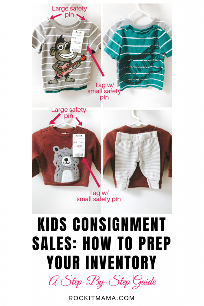 Kids Consignment Sales - Part Two: Prepping Your Inventory | Rock It Mama | Image of clothing for consignment sales
