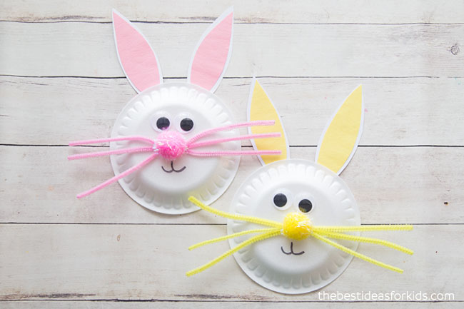 Picture of Easter Bunny Paper Plate Craft