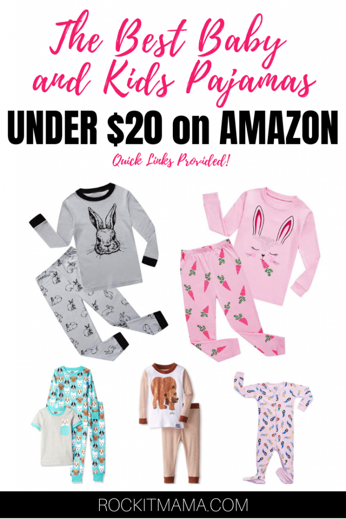Picture of the best children's pajamas under $20 on Amazon