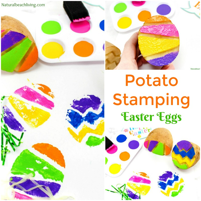 Picture of Potato Stamps Easter Project