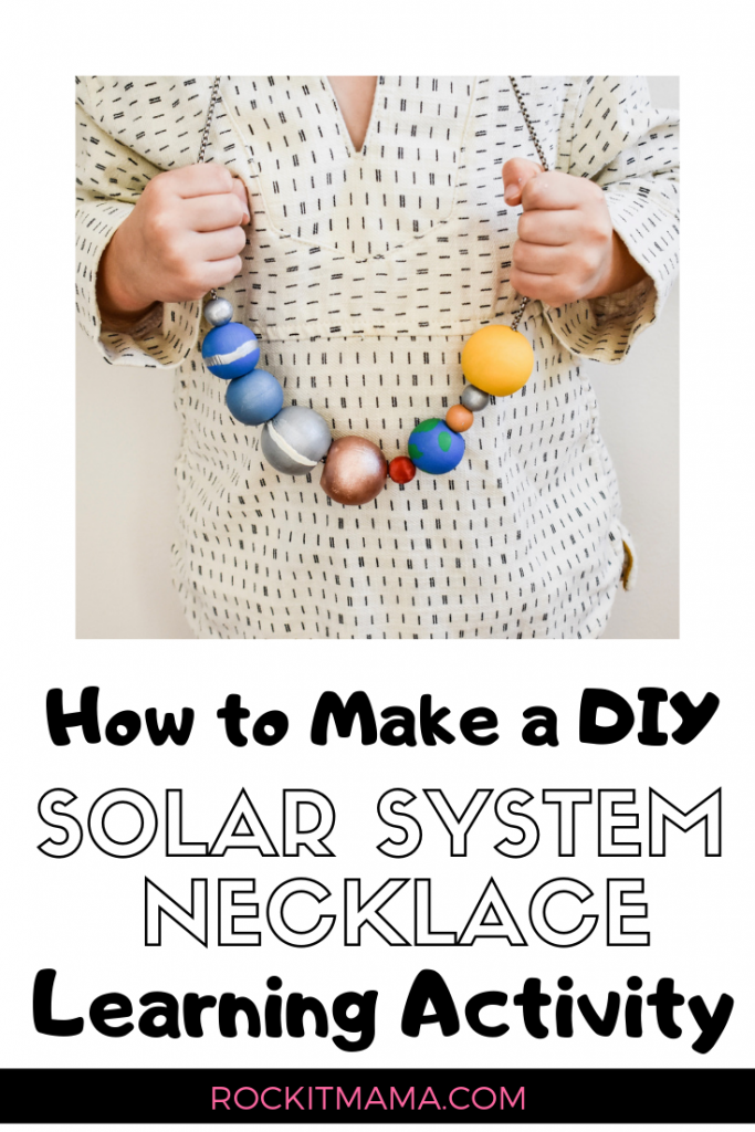 Picture of Rock it Mama Solar System Necklace Learning Activity