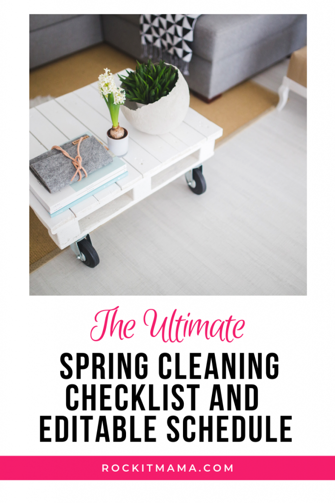 Picture of Rock It Mama ultimate spring cleaning checklist