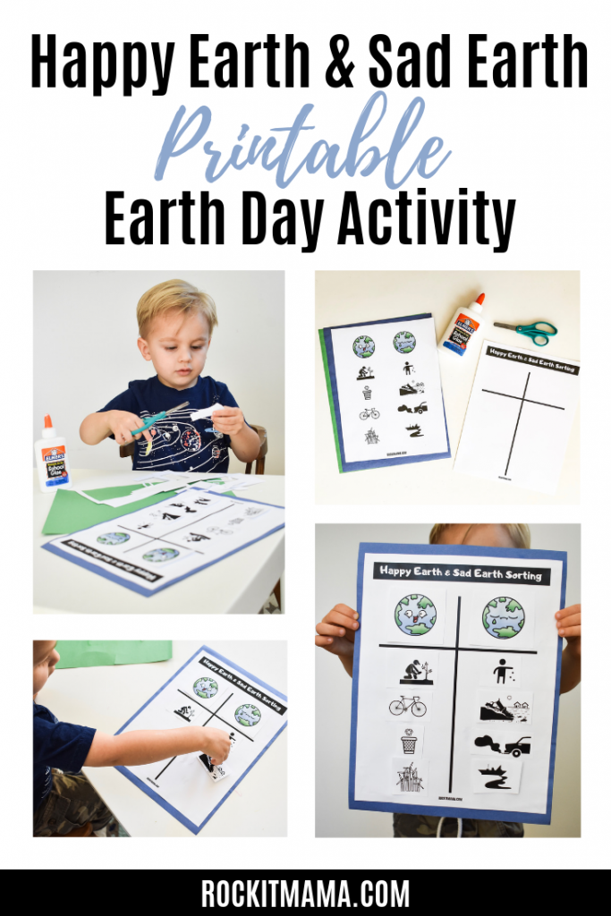 Picture of Happy Earth Printable activity for Earth Day learning and creating.