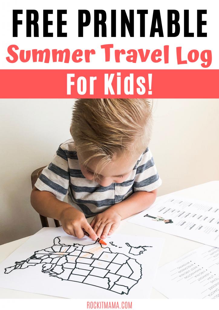 printable travel log for kids