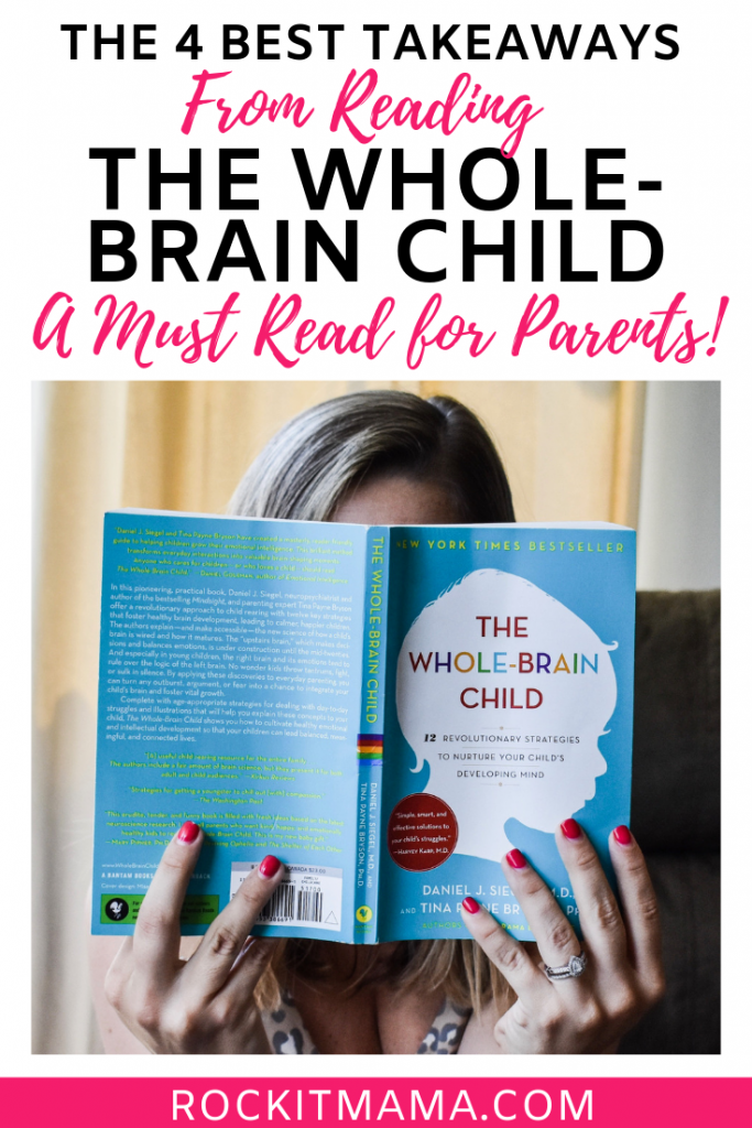 Photo of woman reading The Whole-Brain Child.