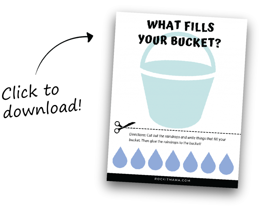 Clickable link to download How Full is Your Bucket book activity