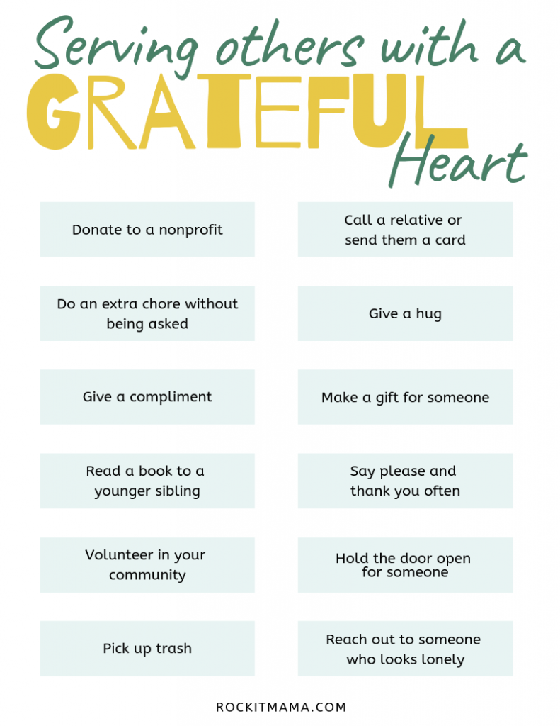 Image showing different ways to show gratitude by serving others