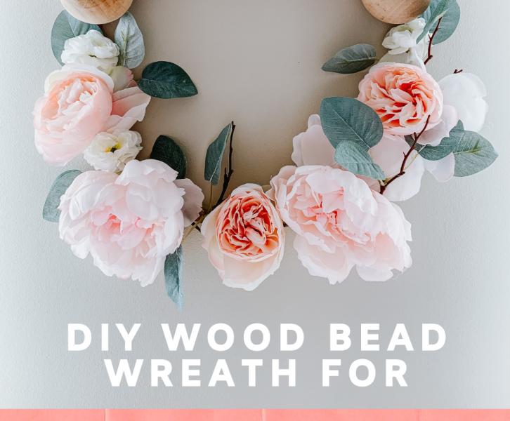 DIY Wood Bead Spring Wreath