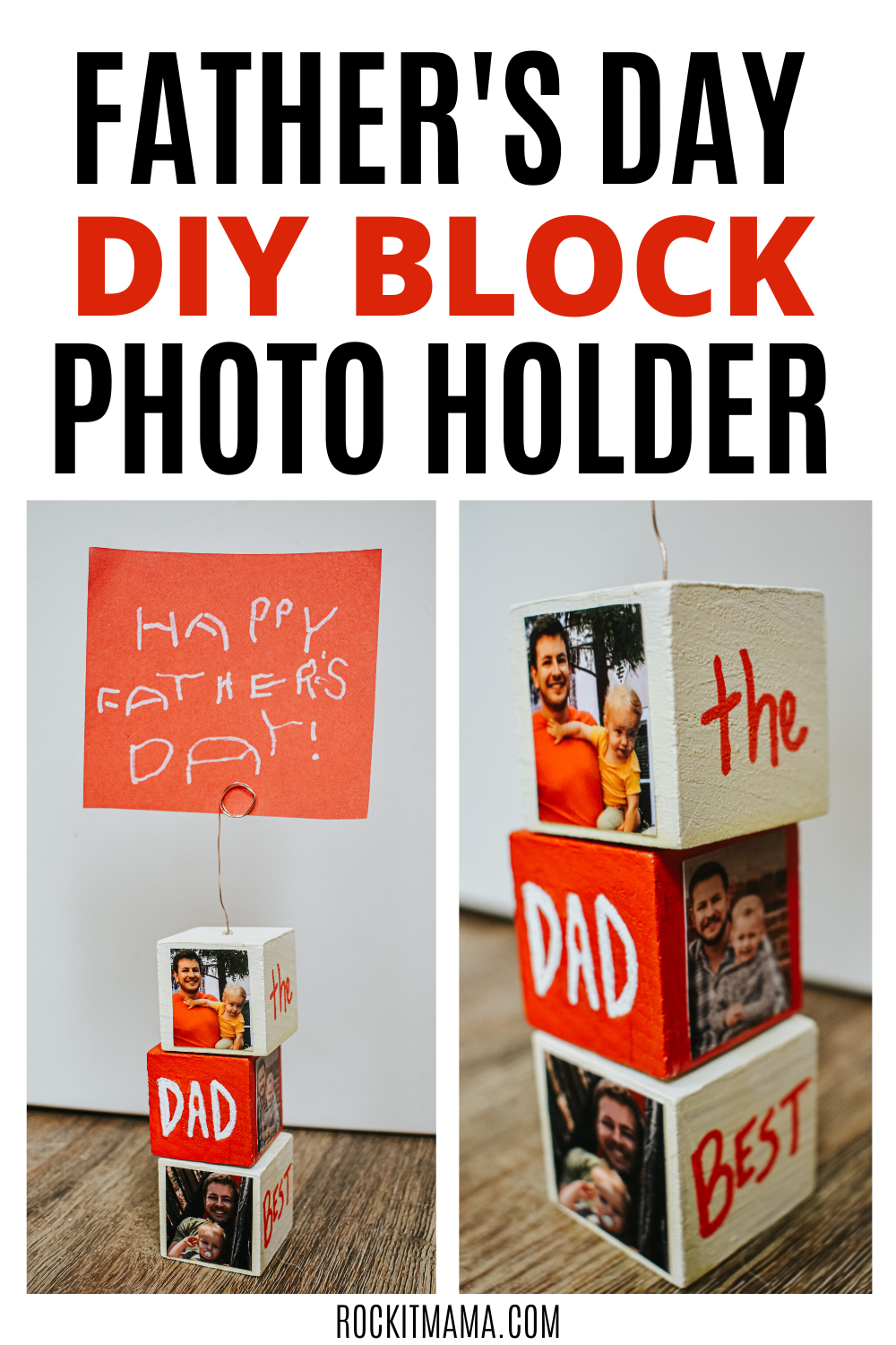DIY Father's Day photo holder