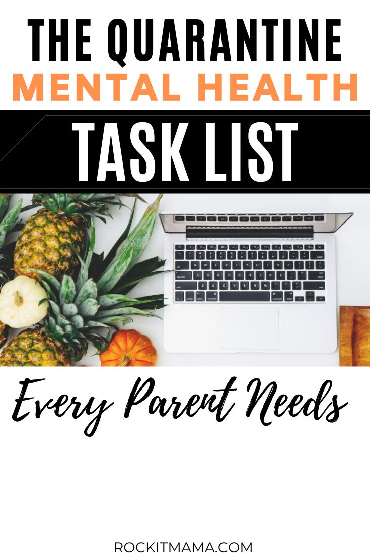 mental health task list